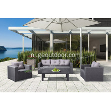 Tuin Aluminium 4-delige bank Chat Set